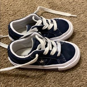 Converse All Star Shoes Size 7c Navy Blue/White